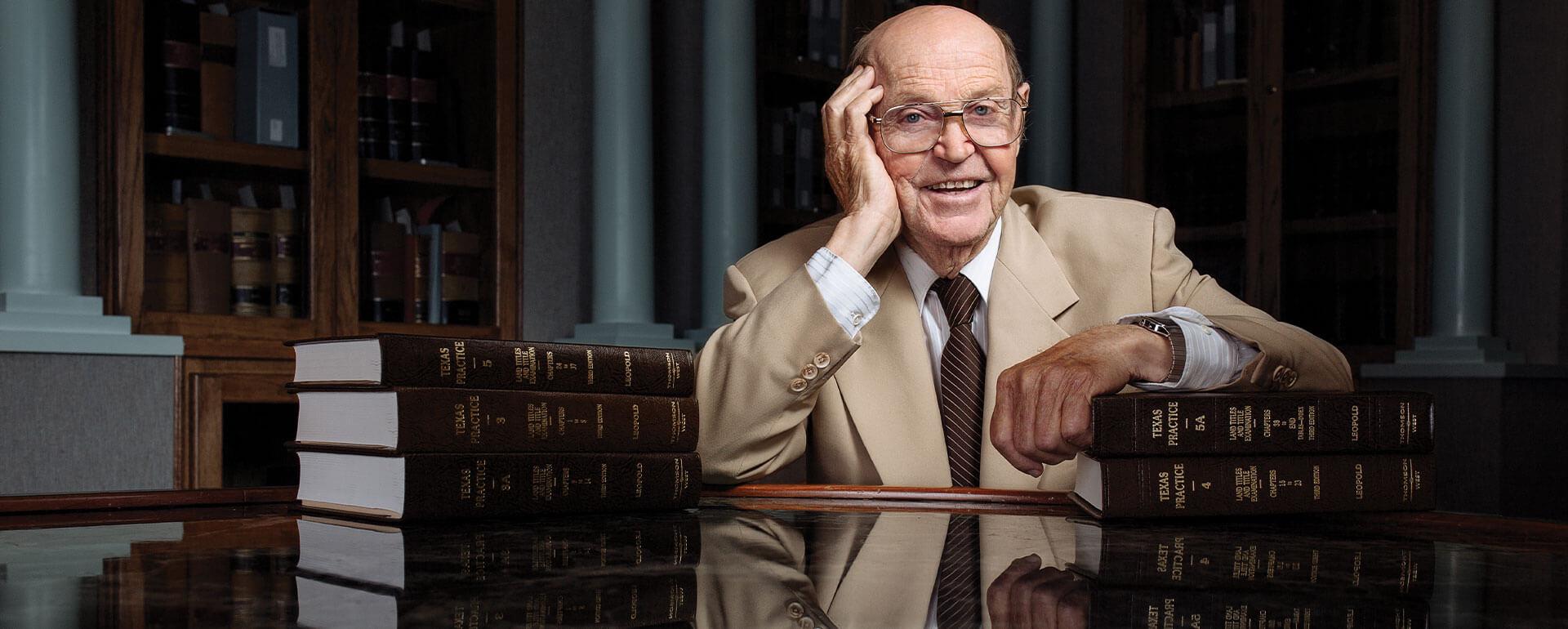 Al Leopold in the Rare Books Room.