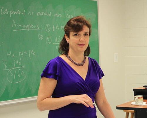 Anna Lurie in class in 2018.