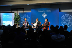 Castro Cisneros speaks at St. Mary's Community Conversations