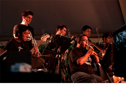 St. Mary's band performing at Jazz Festival