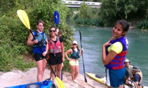 Rattlers have HEART outdoor group kayaking