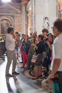The SOS group tours the Vatican during a trip to Italy and Greece