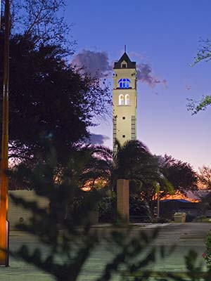 St. Mary's Bell Tower at night