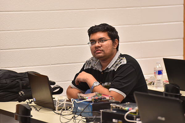 Students sit in a Software Engineering class.