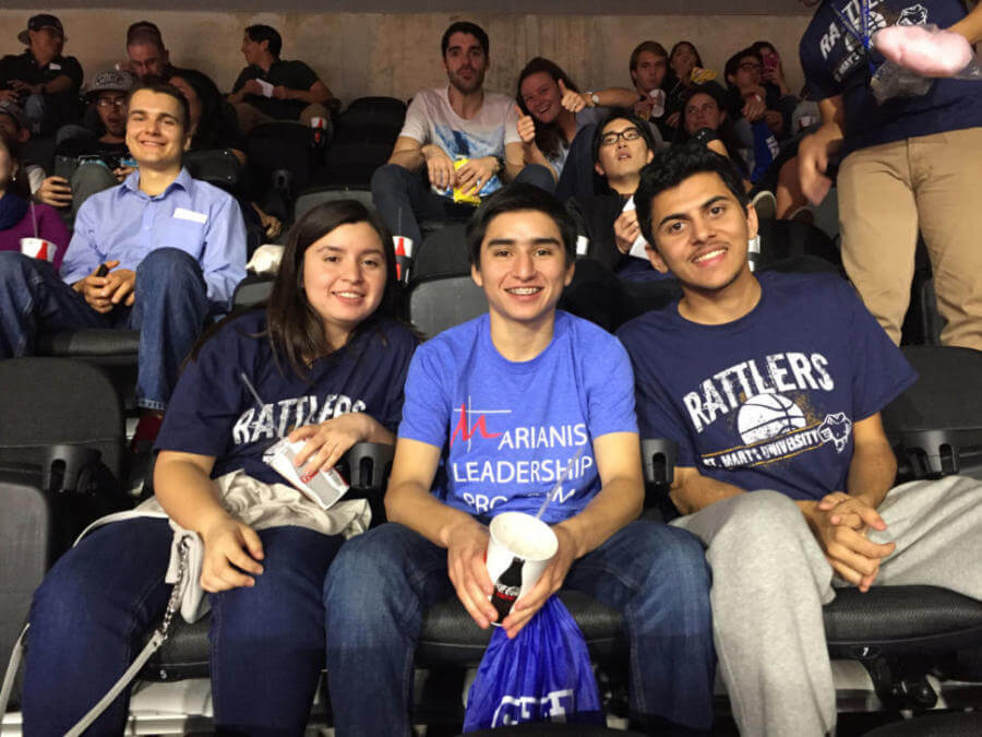 IEP students at a San Antonio Spurs basketball game