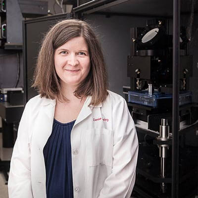 Denise Ramirez in her lab