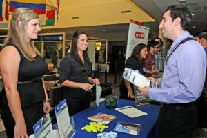 Students participating in the RMI Career Fair