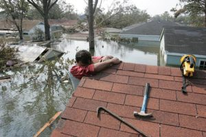 An image taken by Calzada during her coverage of Hurricane Katrina. Photo courtesy of RUMBO.