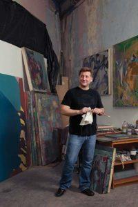 James Joffe in his studio