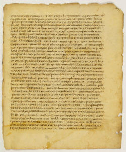A conventional photo taken of a page of the Jubilees palimpsest