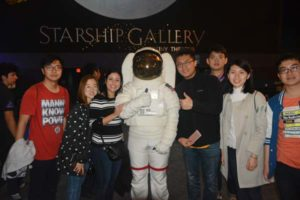 IEP students tour the Starship Gallery at the Houston Space Center