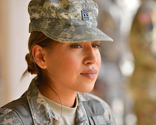 Profile of a female ROTC cadet