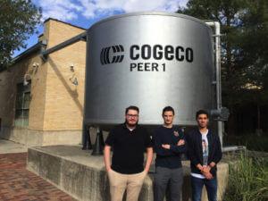 Engineering students at Cogeco.