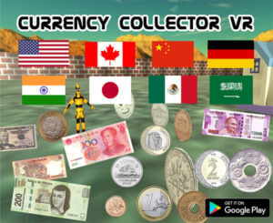 Currency Collector VR main screen