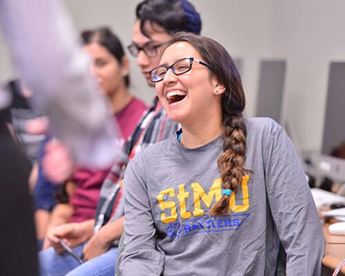 St. Mary's students enjoy class.