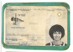 Minerva De La Garza's student ID.