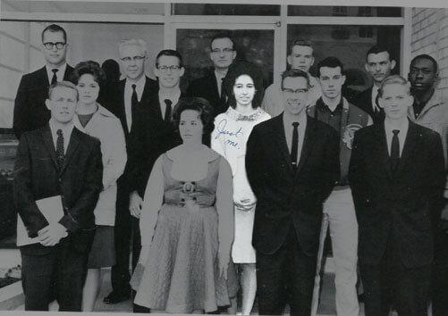 Minerva De La Garza's photo from a yearbook.