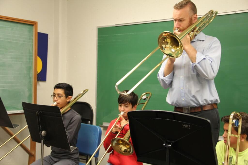 Summer Band Camp trombone class