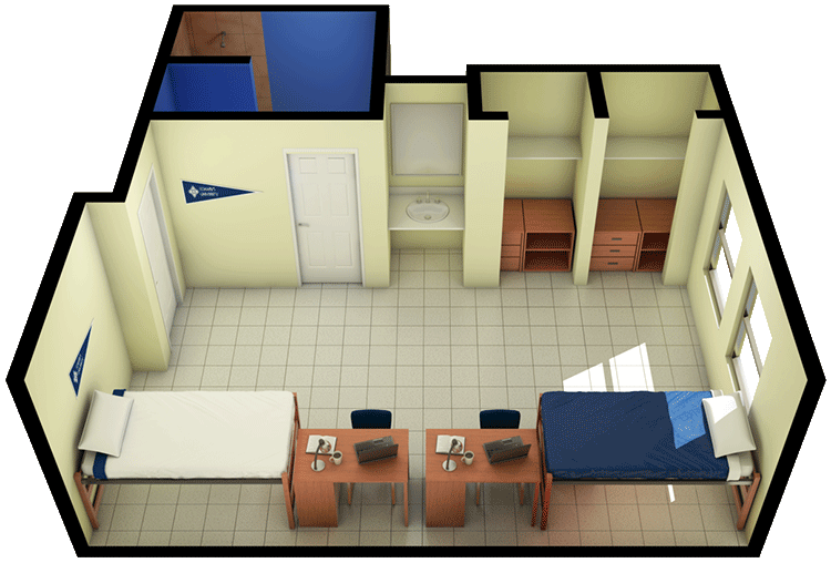 3D view of floor plan