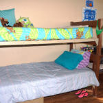 Bunk beds in a Cremer Hall room