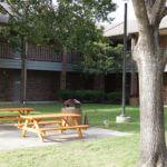 Courtyard at Donohoo Hall