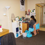 Student studying at her desk in Donohoo Hall