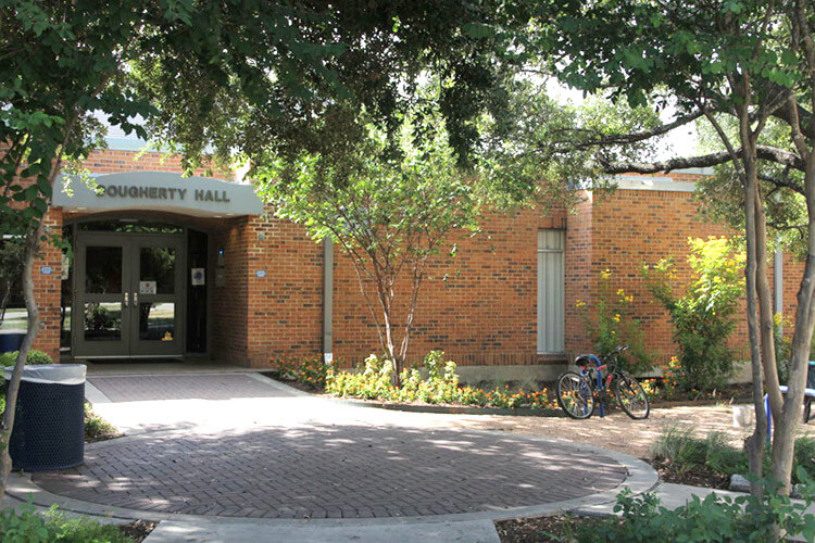 Front entrance of Dougherty Hall