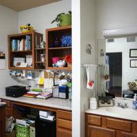 Leies Hall study area and sink