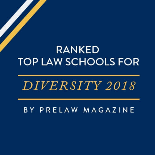 Ranked top law schools for diversity 2018 by PreLaw magazine