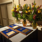 Flowers for the alumni honorees