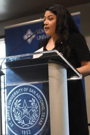 Marketing major Jocelyn Bibian