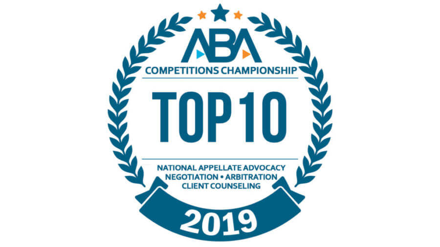 Top 10 2019 badge american bar association
