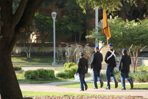St. Mary's University students celebrate Veteran's Day.