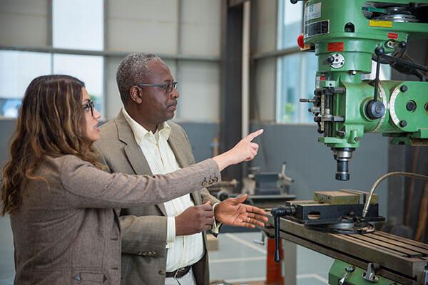 Sunitha Jenarius in an engineering lab