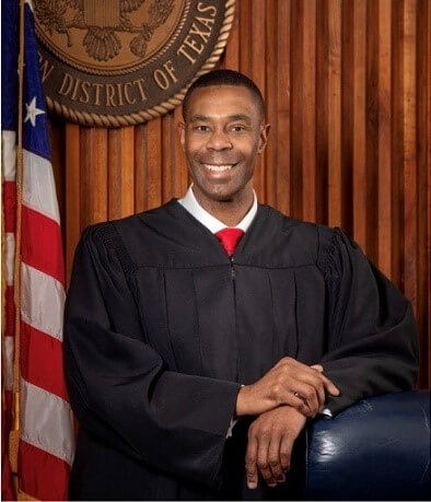 Jason Pulliam in his judicial robe.