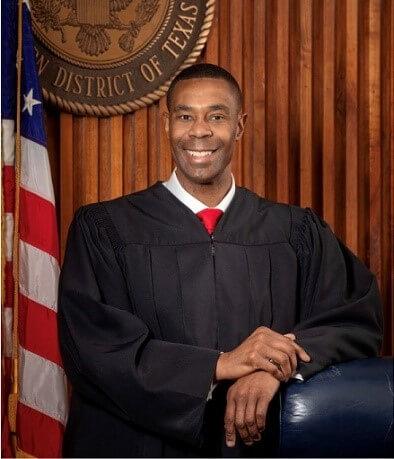 Jason Pulliam in his judicial robe.