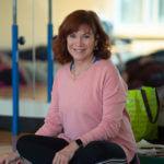 Terri Boggess, Ph.D., in an exercise studio.