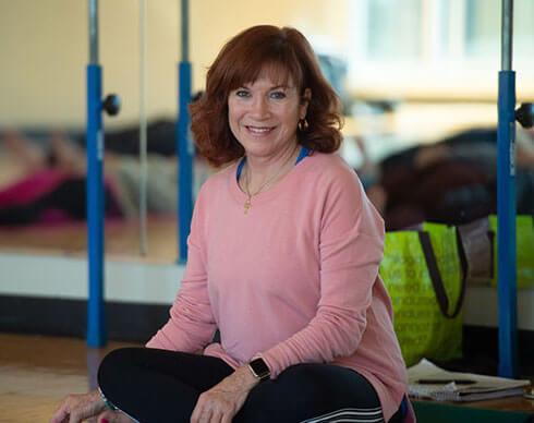 Terri Boggess, Ph.D., in a studio.