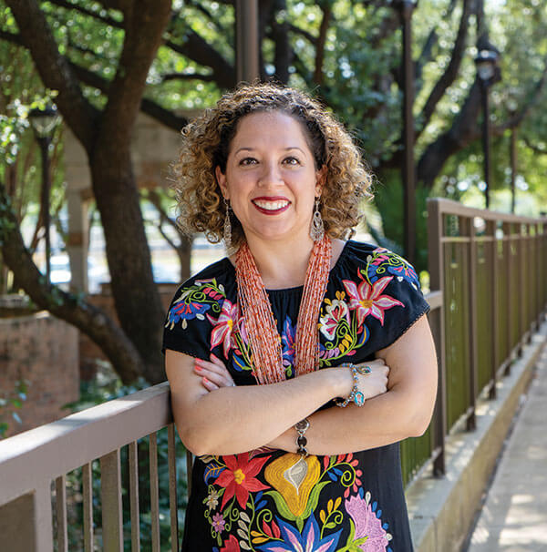 Margaret Cantu-Sanchez, Ph.D., outdoors