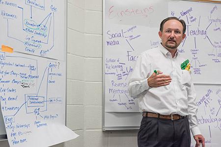 Matt Gilley giving lecture