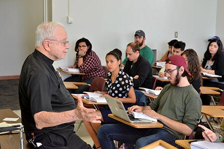 Rev. Montague teaching class