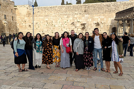 Theology students international trip