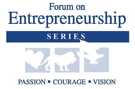 Logo for the 2020 Form on Entrepreneurship Series