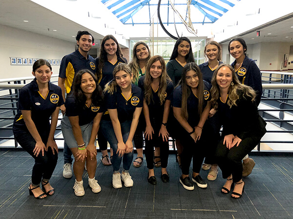 Student Government Association 2019-2020 poses