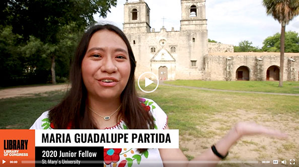 Maria Guadalupe Partida discusses her project for the Library of Congress.