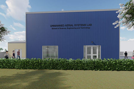 3D rendering of new Drone Lab