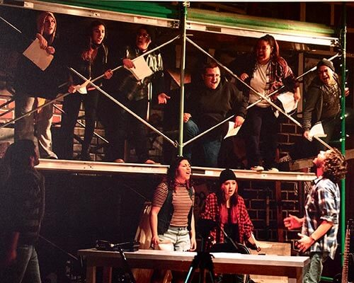 musical theatre production of RENT