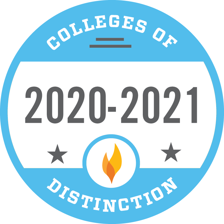 2020-2021 Colleges of Distinction badge