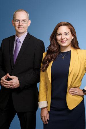 Jeff Schomburg and Felicia Cruz