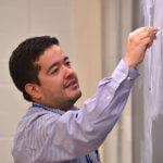Juan Ocampo at the blackboard
